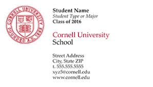 student business card cornell print services