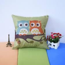 owl printed pillow decorative pillow case owl bedding set princess