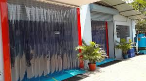 Sliding Pvc Strip Curtains Pvc Strip Curtains Installation Project In India Youtube