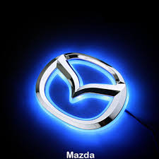 mazda car symbol led car tail logo blue light auto badge light for mazda 2 mazda 3