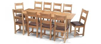 Dining Table And 10 Chairs Constance Oak 180 230 Cm Extending Dining Table And 10 Chairs