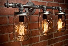 how to make mason jar lights with christmas lights amazing mason jar light fixture industrial light light rustic with