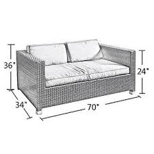 Abba Patio APSFCB Outdoor Sofa Loveseat Cover Patio Wicker - Patio sofa covers 2
