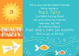 E Card Invites Summer Beach Theme Party Invitation Template And Ecard Design Idea