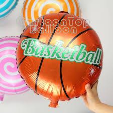 basketball party supplies 30pcs lot 18inch basketball balloons foil helium ballons birthday