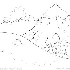 30 dessins de coloriage Montagne à imprimer