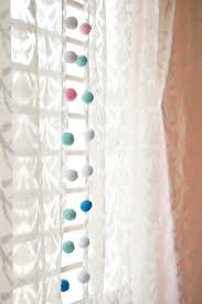 White Curtains With Pom Poms Decorating Pom Pom Curtains 100 Retro Shower Curtains Vintage Bathroom