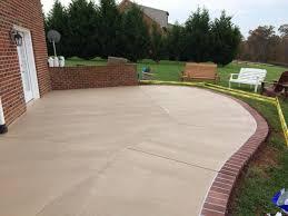 Color Concrete Patio by Fair Brick And Concrete Patio For Interior Home Paint Color Ideas