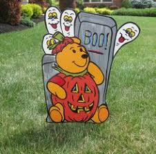 disney winnie pooh halloween gel cling window decor trick
