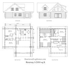 the roseway i log home plan log home plans by heartwood log homes