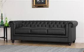 Black Leather Chesterfield Sofa Hton 3 Seater Leather Chesterfield Sofa Black Only 599 99
