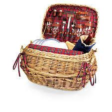 Picnic Basket Set For 4 Picnic Set Ebay