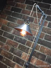 Edison Bulb Floor Lamp Industrial Floor Lamp Metal Shade Edison Bulb Industrial