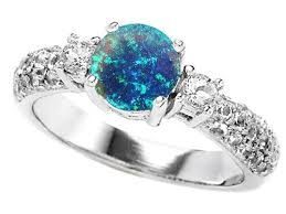 blue opal engagement rings blue opal wedding rings wedding corners