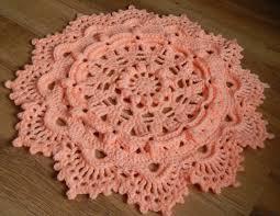 3d round crochet rug floor doily rug 26