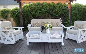 Outdoor White Patio Furniture DIY White Wooden Patio Furniture - Outdoor white wicker furniture