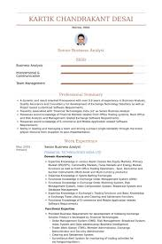 It Analyst Resume Examples by Senior Business Analyst Resume Samples Visualcv Resume Samples