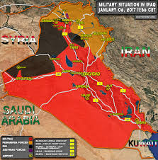 Baghdad World Map by Complete Battlefield Map Of Iraq January 2017