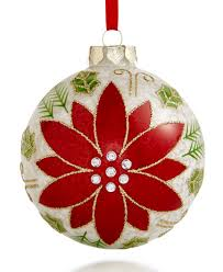 2017 glass poinsettia ornament created for