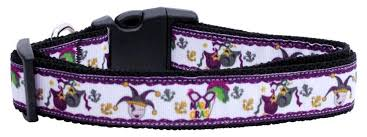 dog collar mardi gras chevron ribbon dog collar and leash mardi gras shopping for pets