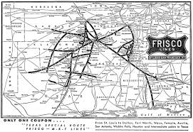 Railroad Map Of Usa by The Frisco