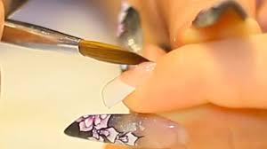 acrylic nail application on to french white nail tips nail video
