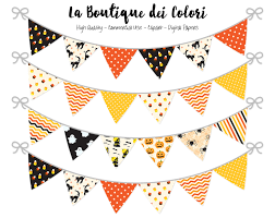 printable halloween banners halloween bunting banners party flags clipart garland spooky
