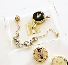 monogram jewlery monogram jewelry tray