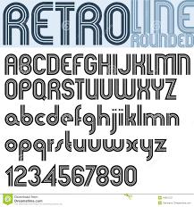 design lines font retro line stylish font vector alphabet stock vector