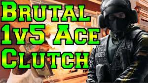 brutal 1v5 ace clutch rainbow six siege youtube
