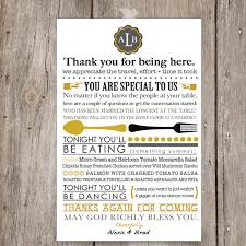unique wedding programs printable wedding menu and or thank you unique wedding table