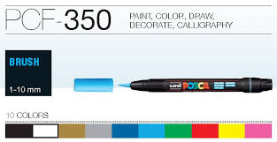 posca paint marker brush tip pcf 350 the paint spot