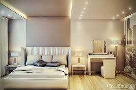 Neutral Bedroom Design - interior neutral bedroom design with king bed combined by town