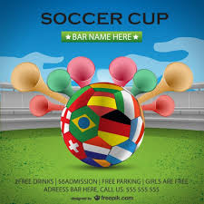 soccer cup poster background vector free download