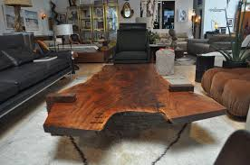 Slab Coffee Table Large Scale Walnut Slab Coffee Table By Richard Patterson At 1stdibs
