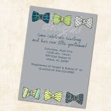 baby boy shower invitation with bow ties little gentleman theme