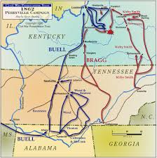 Kentucky Tennessee Map by Battle Of Perryville Civil War Kentucky History Map