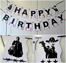 walking dead party supplies happy birthday banner theme walking dead party decor