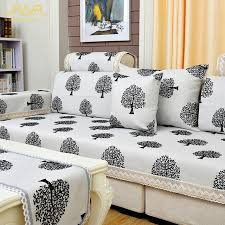 white linen sofa cover romorus high quality modern linen sofa cover black and white sofa