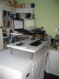 Diy Stand Up Desk Ikea by Stand Up Desk Add On Best Home Furniture Decoration