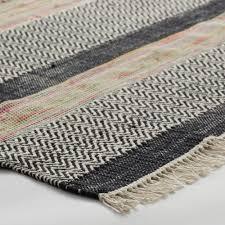 Herringbone Area Rug 5 U0027x8 U0027 Striped Cotton Chindi Nouri Area Rug World Market