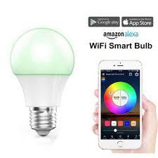 alexa controlled light bulbs smart led rgb color light bulb works with alexa google home wifi