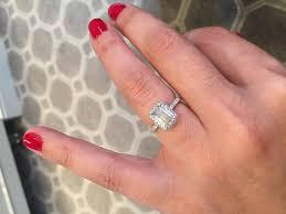 emerald cut engagement rings marisa perry micro pave emerald cut halo engagement ring