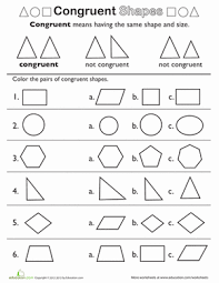 Similar And Congruent Figures Worksheet Shape Basics Congruent Shapes Worksheet Education Com