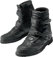 biker riding boots icon patrol waterproof motorcycle riding boots black
