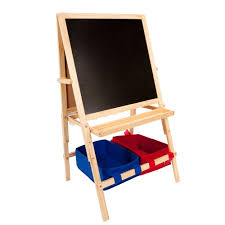 Children S Table With Storage by Children U0027s Wood Easel W Storage Bins First Impressions