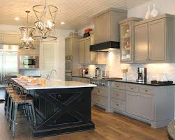Kitchen Furniture Island Kitchen Cabinets Contrasting Color Frame And Doors Examples