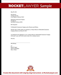 director resignation letter template with sample