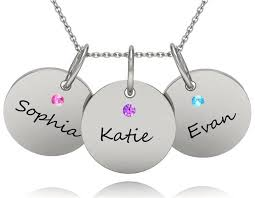 Kids Names Necklace Triple Chic Birthstone Name Necklace Bliss Living