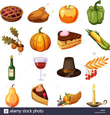 thanksgiving day icons set style stock vector